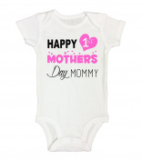 """Kids Onesie """"Happy First MOTHERS DAY Mommy"""" Cute Mothers Day Gift RB Clothing Co"""