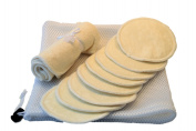 Super Soft Organic Bamboo Nursing Pads - 8 pads - Includes Laundry Bag & Bonus Organic Bamboo Washcloth