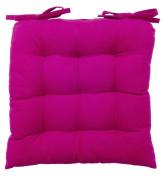 vanki Soft Chair Cushion / Pad - 36cm x 36cm , Hot Pink