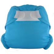 Tidy Tots Nappies Hassle Free Aqua Blue Hook & Loop Nappy Cover O/S