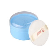 Eforstore Baby Infant Soft After-bath Face Body Powder Puff Case Container Cosmetic Tool with Sifter's Interlayer
