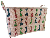 Baby Giraffe Cotton Canvas Storage Bin for Kids Toys Storage, Nursery Storage, Closet Organiser, Laundry, Shelves