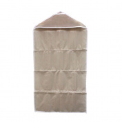 HuaYang 16 Pockets Pouch Door Home Wall Clothes Sock Wash Hanging Storage Bag Organiser - Beige