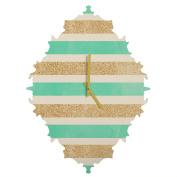 DENY Designs Allyson Johnson Glitter And Mint Baroque Clock, Small
