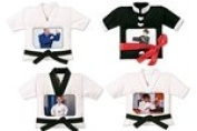 Kung Fu Martial Uniform with Red Sash Picture Frame