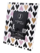 See Jane Work® Picture Frame, Hearts, 25cm H x 15cm W, Gold/Pink/Black