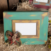 4x6 Vintage Picture Frame with Rustic Accent