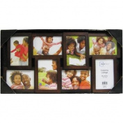 Clean Design Mainstays 8-Opening 4x6 Collage Picture Frame, Walnut
