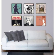 Stylish Record Album or Scrapbook Picture Frame 12.5x12.5, Set of 6