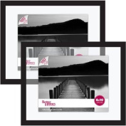 Decorative Better Homes and Gardens Float Picture Frame, Black, Set of 2
