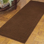Earthy Dylan Nylon Runner Rug Collection (0.3m2.7m x 1.5m ), made from 100% Soft and durable Nylon, with Skid-resistant latex backing, Easy Care and Machine Washable in Costa Brown