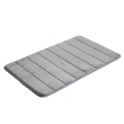 YunNasi Memory Foam Anti-slip Safety Bathroom Living Room Mat, Storm Grey