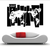 """A Map of the World"" World Map Wall Art Wall Decal"