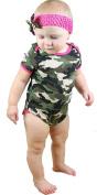 Novelty Baby Camouflage Cotton Jumpsuit Bodysuit Romper Set Nb-18m