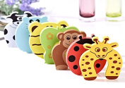 Children Safety No Finger Pinch Foam Door Stopper. Colourful Cartoon Animal Cushion - Ramdom Bundled Baby Child Kid Cushiony Finger Hand Safety
