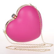 Heart Shape Box Clutch Purse Fashion Women's Evening Party Prom Bag