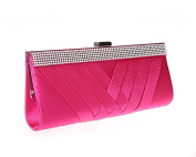 Woven Silk Satin Wedding Bridal Clutch Purse Fashion Women's Evening Handbag
