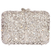 Digabi Glittering Purses Floral Design Square Shape women Crystal Evening Clutch Bags