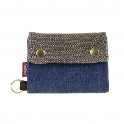 Fakeface Unisex 3 Fold Canvas Wallets with Card Holder