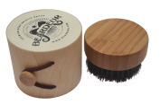 Mini Travel Size Beard Brush for Applying Beard Balm, Pure Soft Boar Bristle for Combing, Maintaining, & Grooming Ones Beard & Moustache, Satisfaction Guaranteed