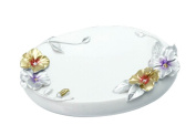 Beautiful Resin Soap Dishes Shower Soap Dish Soap Holders Frowers White