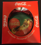 Enesco Christmas Ornament Coca-Cola Decoupage Ornament