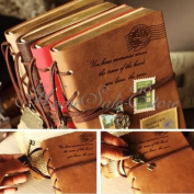 Classic Retro Leather Key Blank Diary Notebook Vintage String Journal Sketchbook
