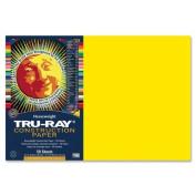 Tru-Ray Construction Paper - 46cm x 30cm - Yellow