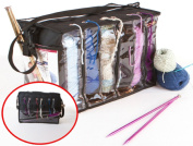 Zuitcase Knitting Bag Organiser, Crochet Tote Bag for Yarn Storage