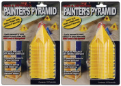 2-PACKS - Painter's Pyramid Stands, Yellow