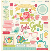 My Minds Eye HG1016 Hello Gorgeous Chipboard Elements, 30cm by 30cm , Multicolor
