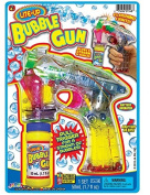 Ja-ru 1548 Lite Up Bubble Gun, Clear, Plastic