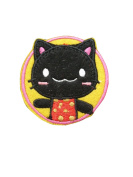 2 pieces BLACK CAT Iron On Patch Applique Motif Fabric Children Cartoon Decal 2.1 x 2.1 inches