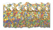 GOLD HOLOGRAM 3.2cm STRETCH SEQUIN 10 Yards