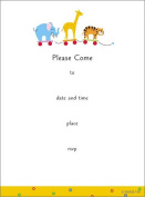 (16) Sweet Baby Toys Fill-In Invitations Cards Red Envelopes