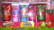 Shopkins Bath and Body Set Scented Bubble Bath Lotions Bath Sponge