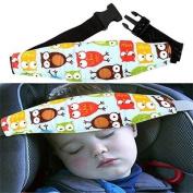 Honice Infants and Baby Head Support Pram Stroller Safety Seat Fastening Belt Adjustable Playpens Sleep Positioner