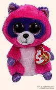 Ty Beanie Boos Roxie The Pink/Purple Raccoon Plush 15cm