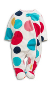 Baby Girls Fleece Sleepsuit Up To 3 Months (6.4kg) Spotty Print
