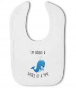 Im Having a Whale of a Time funny animal - Baby Bib
