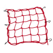 Red Nylon Rubber 6 Hook Luggage Package Cargo Flexible Net for Motorcycle