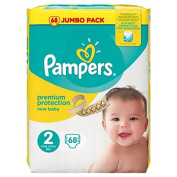 Pampers New Baby Size 2 Mini 3-6kg/6-13lbs Jumbo Pack 68 Nappies