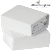 2 x Baby Elegance® 100% Pure Cotton Flannelette Pram Fitted Sheet