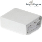 Baby Elegance® 100% Pure Cotton Flannelette Crib Cridle Fitted Sheet - White