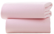 CUTE BABY - 100% COTTON FITTED COT SHEETS X 2 - PINK
