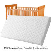NURSERY BABY QUILTED BREATHABLE CRADLE/PRAM /COT/CRIB MATTRESS SIZE 90 x 40 CM SQUARE CORNERS