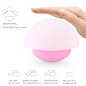 Wawoo Tumbler Mushroom Design 7 Colour Changing Touch Sensor Night Light, Colourful Dimmable Sensor LED Nightlights with Softlight, Stronglight and 7 Colourful Light Best Gift for Baby Room, Bedroom, Nursery, Outdoor
