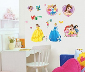 Wall Sticker Decal Princess Snow White Mermaid Girl Room Decor Mural Nursery Daycare and Kindergarten DIY Removable 23cm x 43cm
