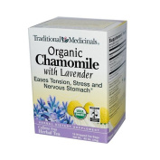 Traditional Medicinals Organic Chamomile Tea With Lavender - 16 Tea Bags, Pack Of 3