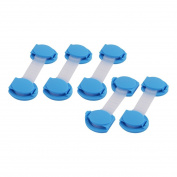 sourcingmap Cabinet Door Drawer Cupboard Fridge Adhesive Safety Lock 5 Pcs Blue